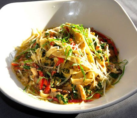 House-made fettucini at Eclipse Restaurant | Tara Mahadevan