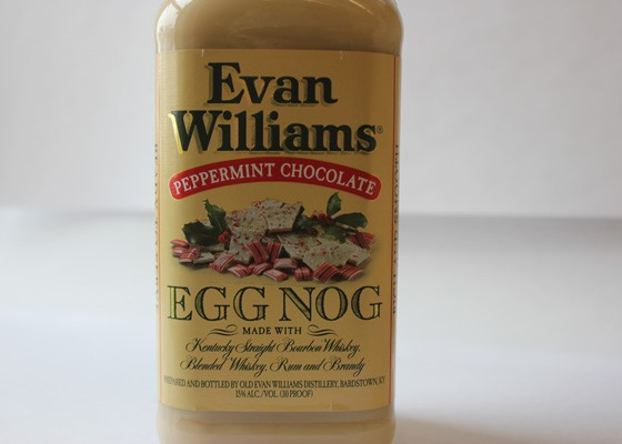 Evan Williams peppermint chocolate eggnog.   Nancy Stiles