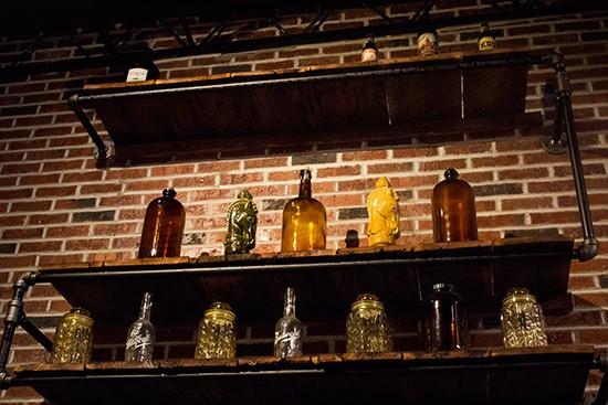 Decorative jugs.