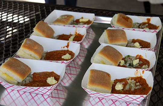 Pav bhaji, a dish of cooked veggies and spices with Indian bread | Kaitlin Steinberg