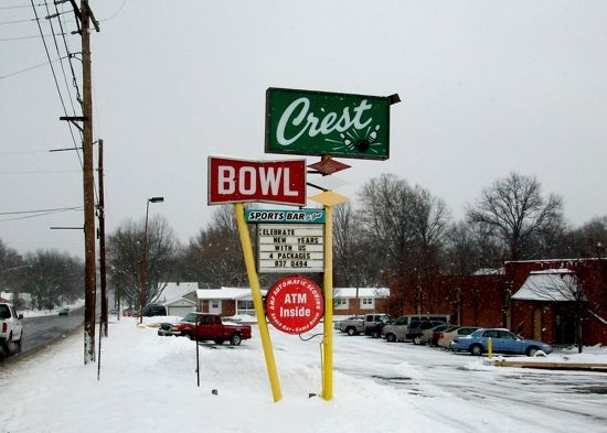 Crest Bowl has been around since 1958 -- and has the cool old signage to prove it. | Gut Check photo