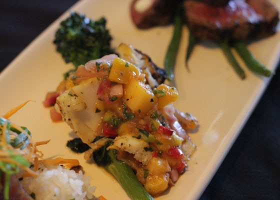 Chilean sea bass with mango salsa. | Nancy Stiles