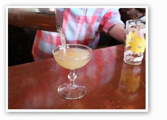 "Bartender Samantha McCulloch gets ""The Matador"" ready for Gut Check. Ole!   Evan C. Jones"