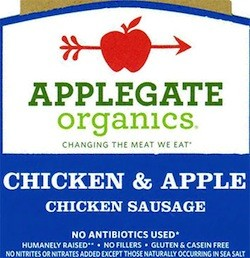 Applegate Organics Chicken and Apple Sausage Recalled | Food