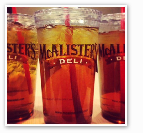McAlister's is giving away free sweet tea all day today. | McAlister's Deli