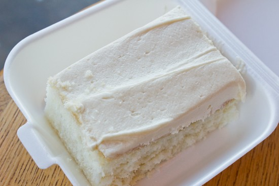 "A slice of ""Chef Debra's Famous Cake"" for dessert. - MABEL SUEN"