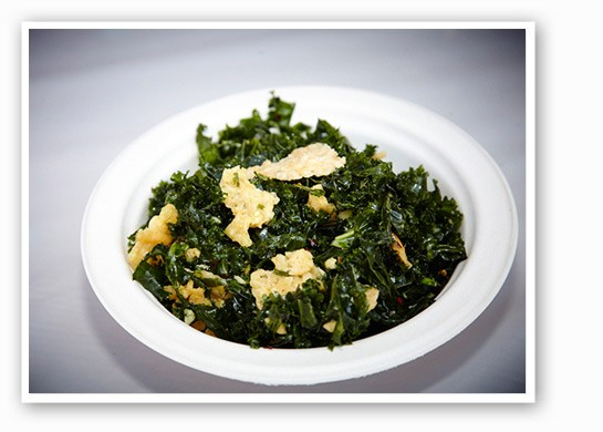Kale salad with garlic, crushed red pepper, parmesan chips and a lemon vinaigrette from Cleveland-Heath. | Steve Truesdale