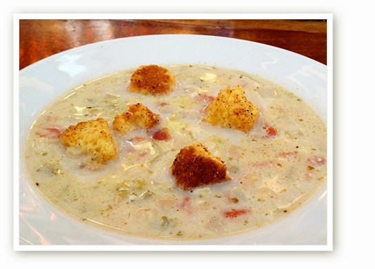 Chile con chatta with cornbread croutons. | Courtesy of Joy Christensen