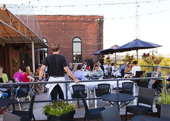 The rooftop patio at Vin de Set. | Laura Ann Miller