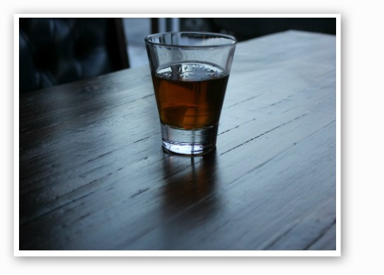 A nice glass of whiskey -- works every time. | Zach Garrison