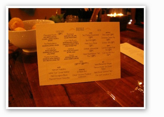 Juniper's excellent drink list. | Zach Garrison