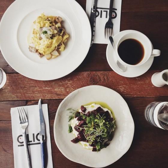 Brunch at Olio. | Instagram/@coffeesundays