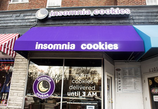 The new Delmar location of Insomnia Cookies.