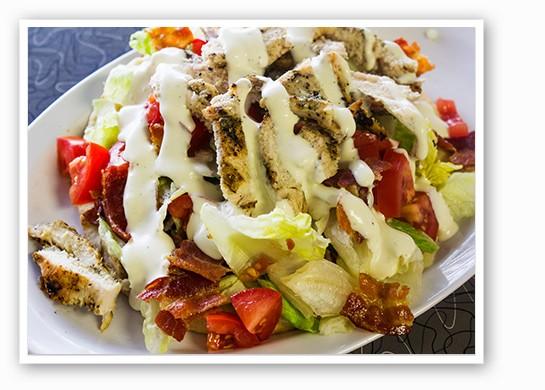 Chicken BLT pita. | Mabel Suen