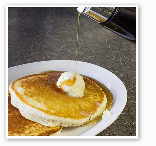 A side of fluffy pancakes. | Mabel Suen