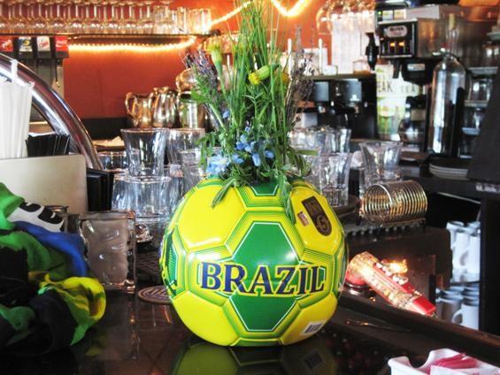 Yeah, the Brazilians LOVE football. - IAN FROEB
