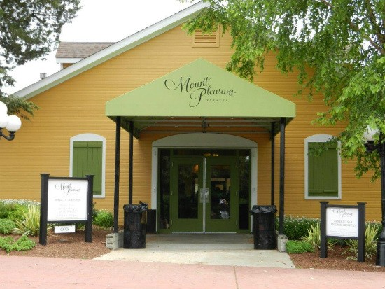 The entrance to Mount Pleasant Winery in Augusta, Missouri. - IMAGE VIA