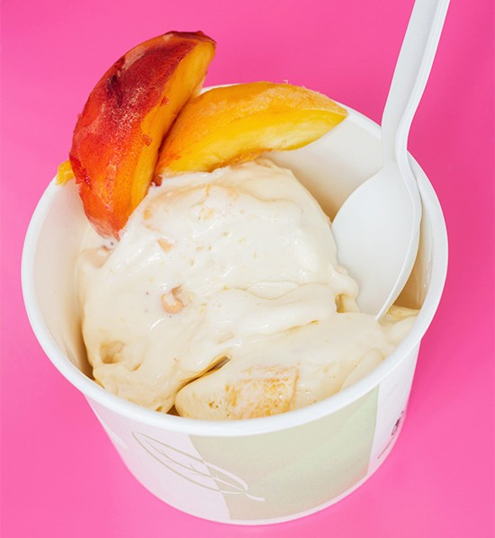 Peach chai ice cream. | Photos by Mabel Suen