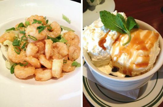 "The ""Ying-Yang Shrimp"" (left) at BlackFinn American Grille: A continent, distilled? - EVAN C. JONES"