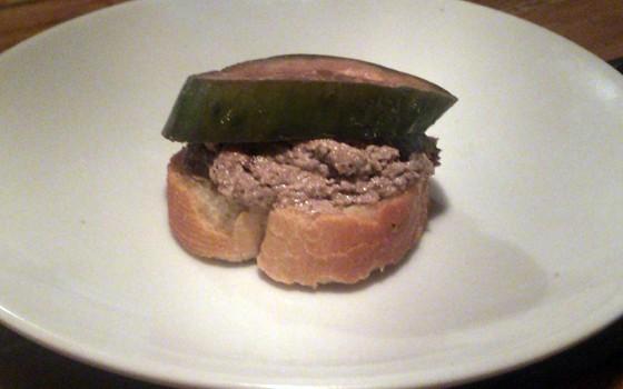 Mushroom pâté with house pickles | Patrick J. Hurley