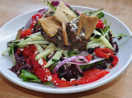 Mediterranean salad at Local Harvest Cafe | Tara Mahadevan