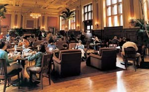 Holmes Lounge at Washington University, where you can eat Suarez' food. - PHOTO: DAVID KILPER