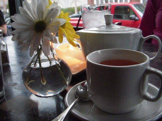 What better way to recover from a day wandering in the moors -- or a movie that made us cry -- than a pot of good English tea?