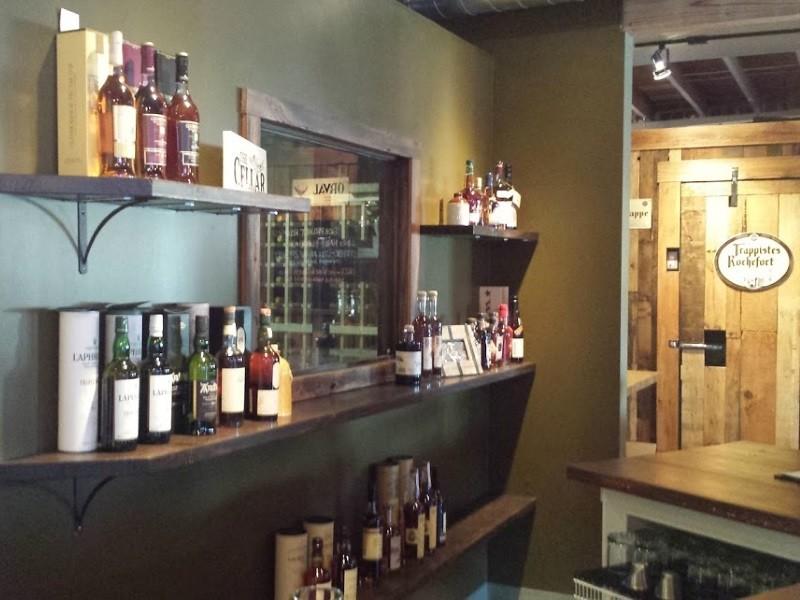 The Cellar also serves several whiskeys - RICHARD HAEGELE