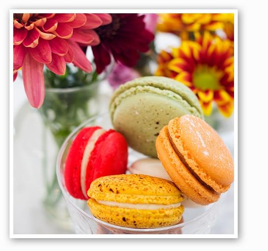 La Patisserie Chouquette's fall macarons.   Mabel Suen