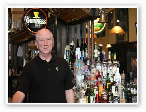 Bartender Bob Dolan at the Dubliner. | Kaitlin Steinberg