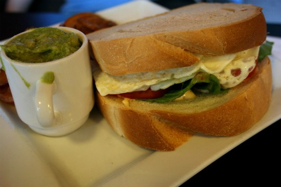 Rooster's fried egg sandwich - CHRISSY WILMES