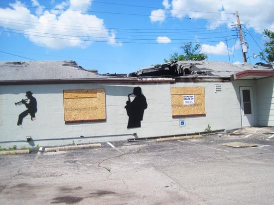 Fire damage at the former Kramer's Olive Bistro in University City - IAN FROEB