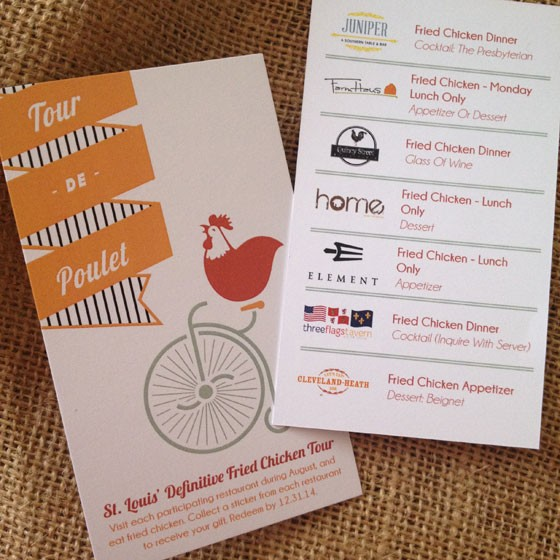 The Tour de Poulet passport. | Cassy Vires