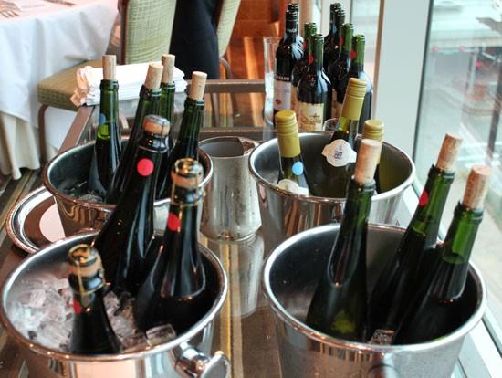 The event's wines. | Evan C. Jones
