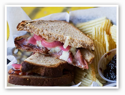 A Black Forest ham sandwich | Mabel Suen