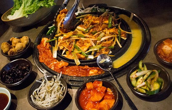 Marinated pork shoulder and belly barbecue at Seoul Q. | Photos by Mabel Suen