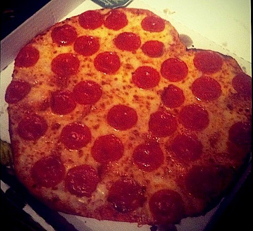 We ordered this pizza last year. Tasty? Sure. Heart-shaped? Eh. - LIZ MILLER