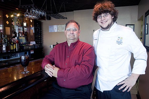 Father and son duo, Bill (left) and Benjamin McNabb.  They opened Seasons St. Louis with Bill's wife (Benjamin's mother) in March. As the restaurant name suggests, they will be changing the menu on September 22 for the fall season, but in the meantime, I photographed a four course meal with some of their favorite ingredients. See more photos from Seasons St. Louis here. - PHOTO: JENNIFER SILVERBERG