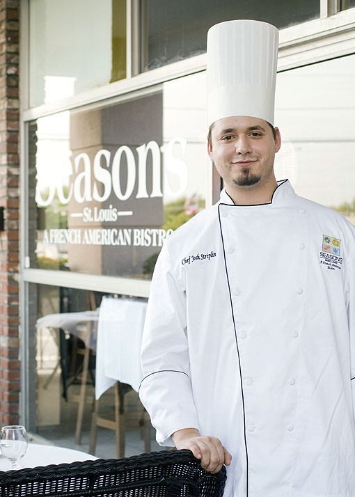 """Co-Chef Josh Striplin of Seasons St. Louis allowed himself to be """"stolen"""" away from the Fox in order to come work with friend/co-worker Benjamin and his family. See more photos from Seasons St. Louis here. - PHOTO: JENNIFER SILVERBERG"""