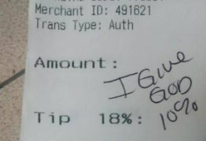 You shall tip no other gods more than me. - REDDIT
