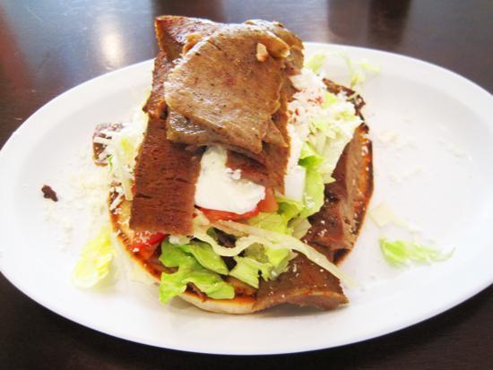 "A ""jumbo"" version of Gyro House's namesake sandwich. | Ian Froeb"