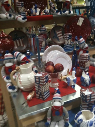 Show your love for this great country with a red, white, and blue sock monkey. Made in China.