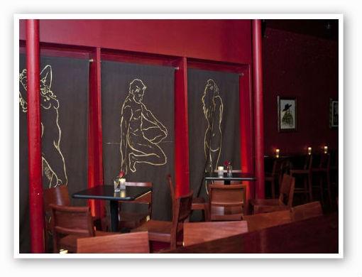 Dramatic interior at Baileys' Chocolate Bar | Laura Miller