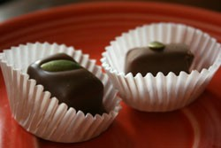 Decadent pumpkin truffles from Kakao. - CHRISSY WILMES