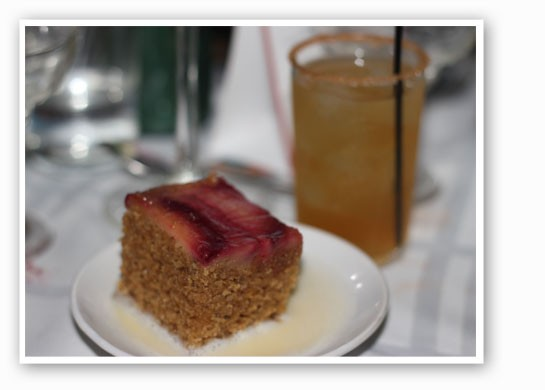 Amelie's Famous Plum Cake with plums, greek yogurt, plum jam and almonds at Tenacious        Eats. | Nancy Stiles