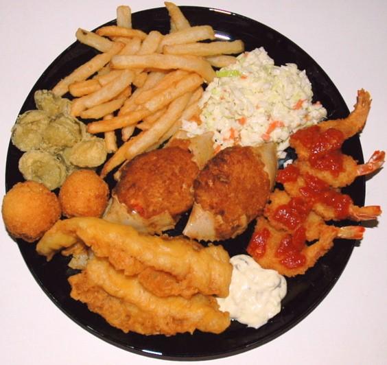 Big ol' honkin' Captain D's seafood platter! - IMAGE CREDIT