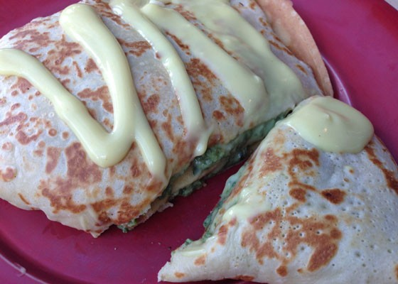 A Florentine crepe topped with Hollandaise. | Nancy Stiles