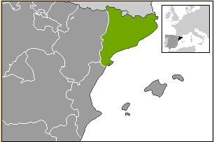 "Catalonia is highlighed in green (main) and black (inset). - USER ""MARTORELL,"" WIKIMEDIA COMMONS"