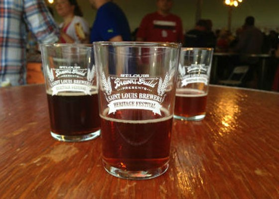 Sampling glasses from last year's Heritage Festival. | Pat Kohm