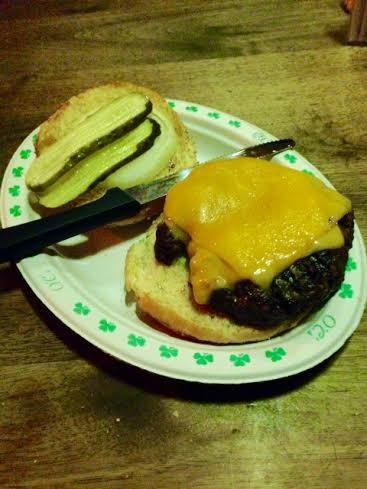O'Connell's cheddar burger | Cheryl Baehr